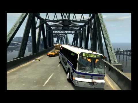 GTA IV Heavy Bus Mod: Bridge of Death (with sound) HD 1080P