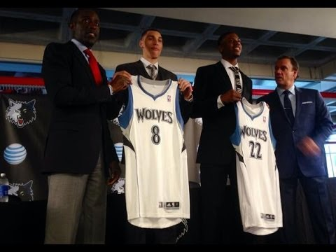 Glenn Robinson III and Zach LaVine Introduced by Minnesota Timberwolves