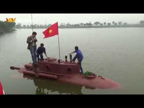 Tàu ngầm Trường Sa chạy thử trên hồ lớn