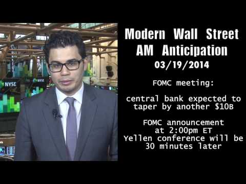 AM Anticipation: Stocks rise ahead of FOMC, Crimea situation eases