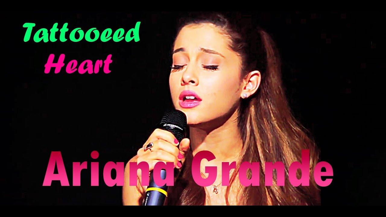 Ariana grande sings tattooed heart acapella youtube for Tattooed heart ariana grande