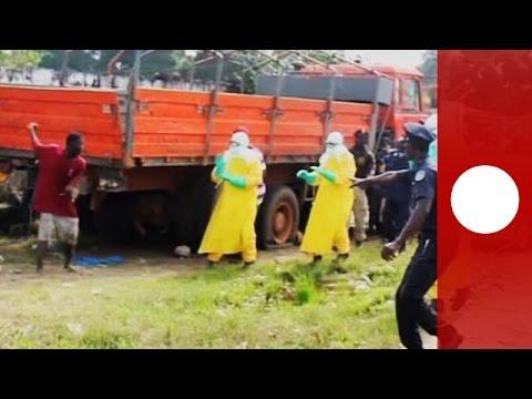 أحد المصابين بفيروس ابولا يهرب