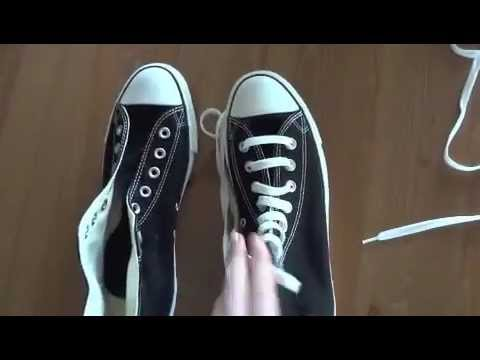 How To Bar Lace Converse High Tops, This is the way I know - hope it helps ;)