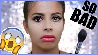 PRODUCTS I HATE MAKEUP TUTORIAL Challenge | LAURA LEE
