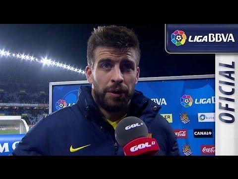 Entrevista a Piqué tras el Real Sociedad (3-1) FC Barcelona - HD