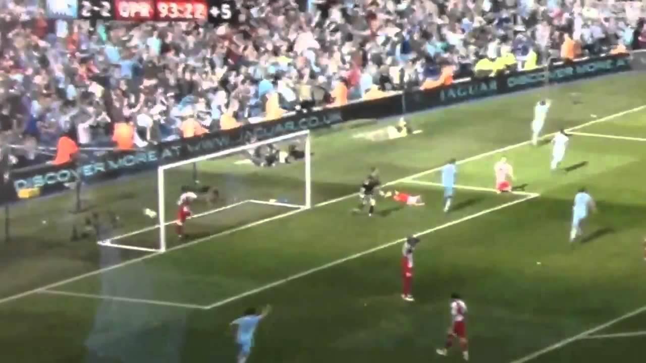 Champions Aguero QPR Manchester Sergio City  Goal - vs