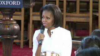 First Lady Michelle Obama visits Oxford