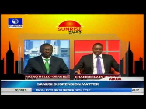 Sanusi's Removal is Against CBN's Act -- Lawmaker PT2