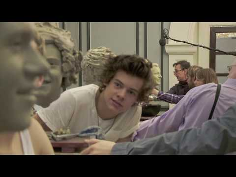 Sculpting Harry Styles from One Direction at Madame Tussauds New York
