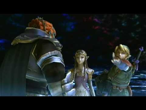 SSBB - The Subspace Emissary - 98 Link and Zelda Put Ganondorf to Action HD