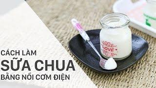 Cách làm sữa chua bằng nồi cơm điện   Điện máy XANH