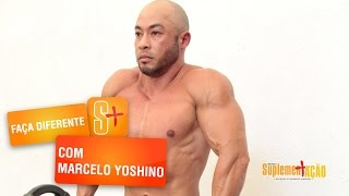 Marcelo Yoshino - Faça Diferente - Elevação de ombros com halter e barra