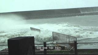 Super Typhoon Jangmi Extreme Waves And Weather Stock Footage Screener HDV 1440x1080 50i