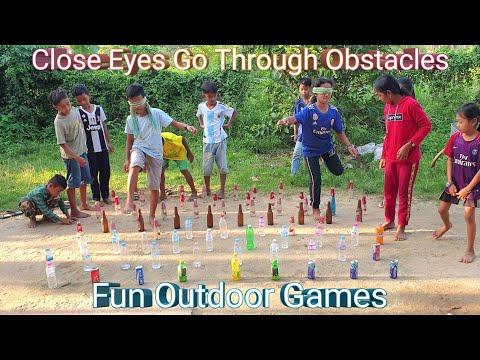Close Eyes Go Through Obstacles | Outdoor Games | Fun Team Building Games
