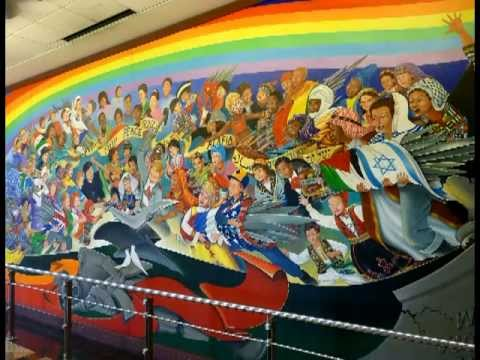 Denver murals international airport colorado youtube for Denver mural airport