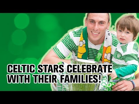 Celtic players celebrate title with kids and families!