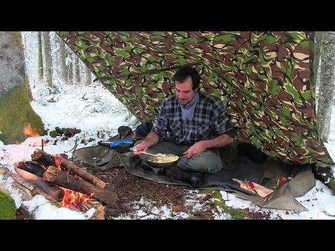 Pilzrahmschnitzel mit Spätzle gekocht in der Waldküche