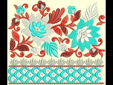 Pakistani Jamawar Borders Embroidery Designs