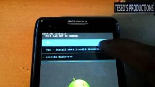 INSTALACION ANDROID 4.4.2 KITKAT RAZR HD XT925 Y XT926