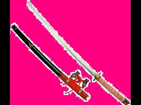 Cách làm kiếm Nhật từ giấy