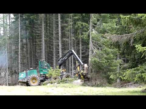 Timberjack 1470D Wheeled Harvester in action again