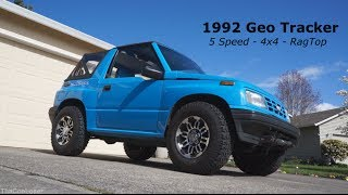 1992 Geo Tracker walk around - 5 speed 4x4 Rag Top