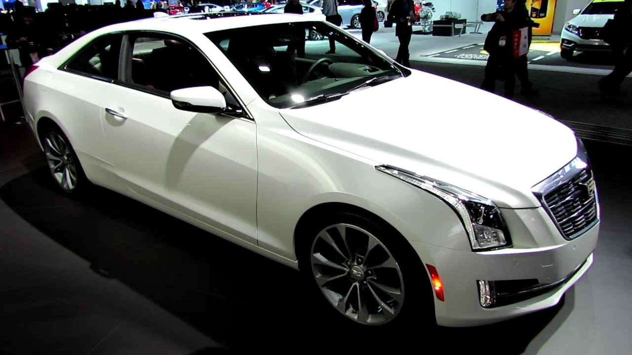 Cadillac ATS Coupe Exterior And Interior Walkaround Debut At 2014