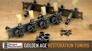 Watch the Trade Secrets Video, Why Golden Age Restoration Tuners are Perfect for this Old Mandolin