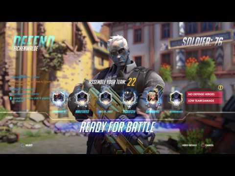 Overwatch Top 500 competitive PS4 (Tracer, Soldier 76, and Mcree)