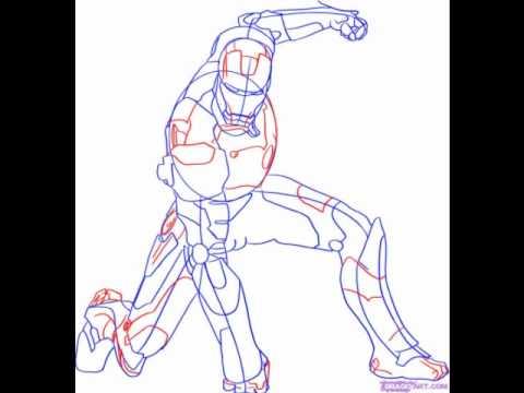 How to draw Iron Man - YouTube