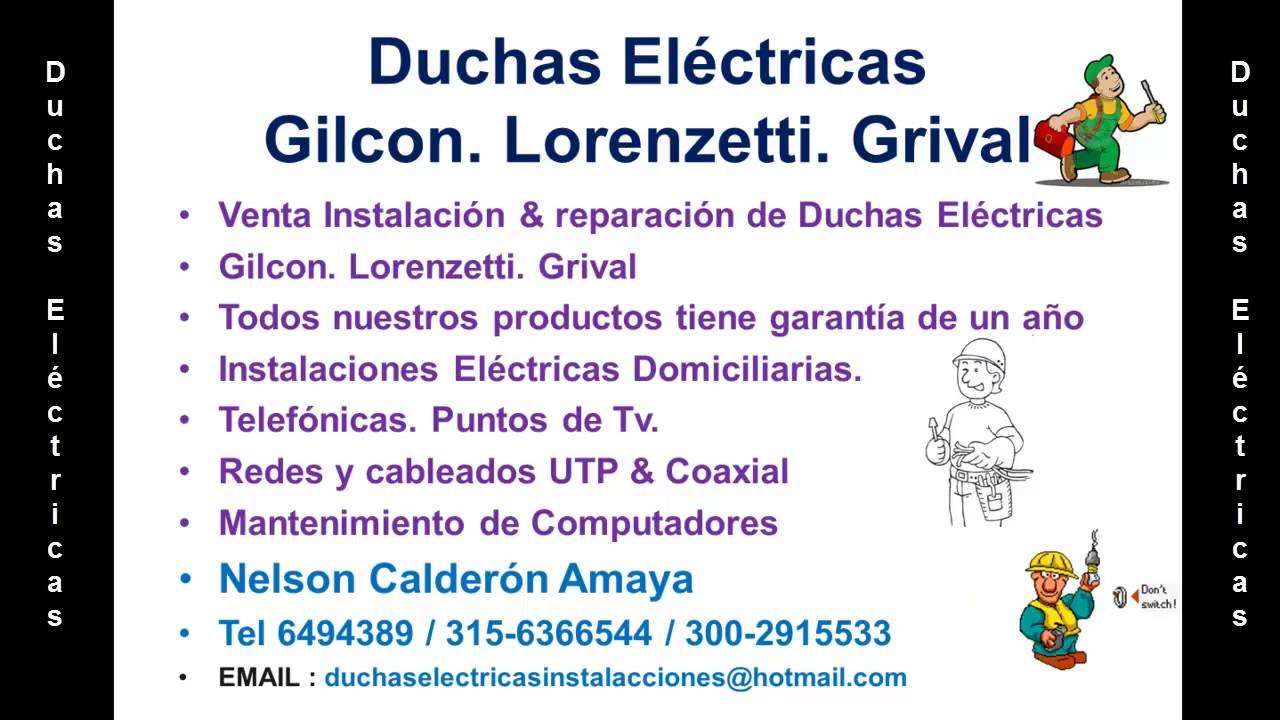 Duchas gilcon en bucaramanga tel 6185261 300 2915533 for Duchas grival colombia