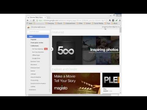 Installing free applications from the Google Chrome Web Store