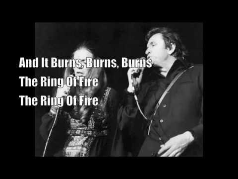 Johnny Cash Burn Burn Burn The Ring Of Fire Lyrics