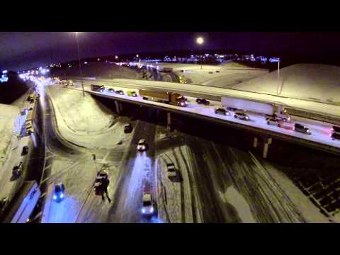 Aerial Video of  Winter Storm 2014 Alabama