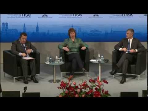 Catherine Ashton in Panel discussion on the Belgrade-Pristina Dialogue