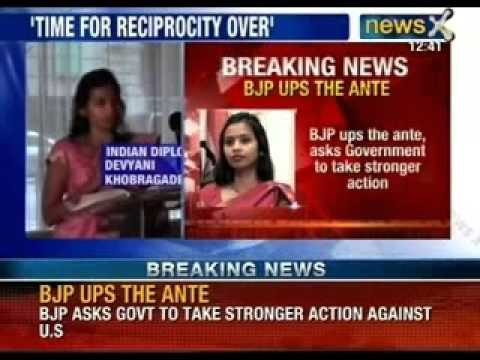 NewsX: Devyani Khobragade case- Yashwant sinha has said it is time for reciprocity over