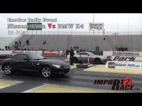 Nissan 350z Vs BMW Z4 at Exotics Rally Event (2 runs)
