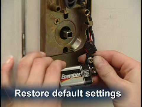 How To Restore The Keypad Lock To Original Factory