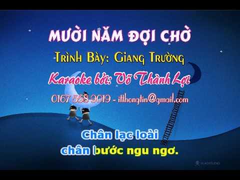 Karaoke muoi nam doi cho (karaoke by: itthongtin)