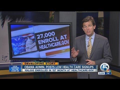 Obama adm. posts health care signups