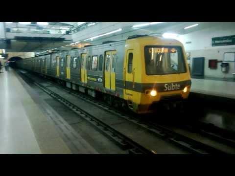 Subte Alstom chapa O en estación José Hernández