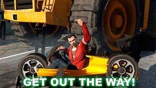 GTA V Online - Minijuego - El Ratón y El Gato - ¿cuanto se puede destruir un coche? XD