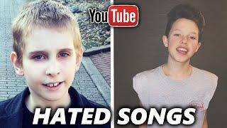 TOP 5 Most HATED YouTuber Songs ( Jacob Sartorius, Misha Silenosti )