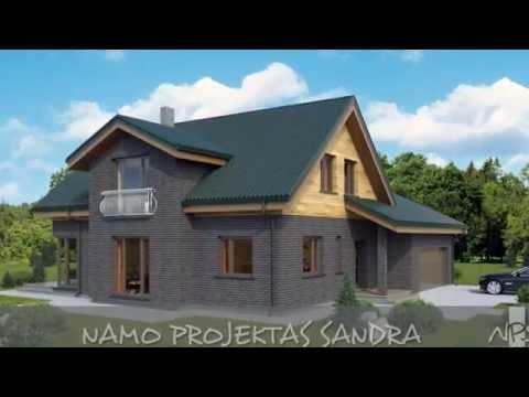 Dviejų aukštų namo projektas Sandra | NPS projektai - namų projektavimas, statyba