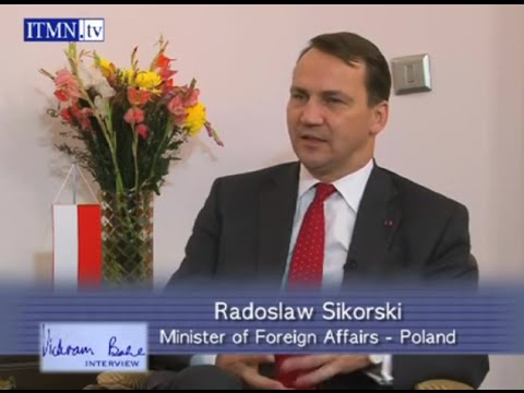 Radoslaw Sikorski, Poland's Foreign Minister - interview with Vickram Bahl
