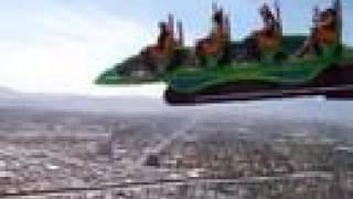 高層ビルで宙吊り状態のシーソー。 STRATOSPHERE X-SCREAM
