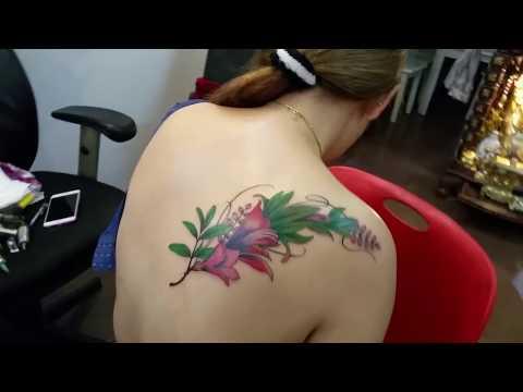 Hình xăm Hoa Hoàng Anh Tattoo Cần Thơ