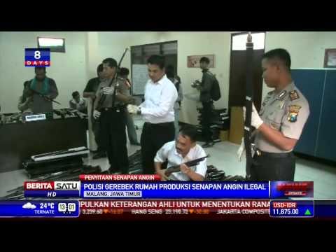 Polisi Gerebek Rumah Produksi Senapan Angin Ilegal