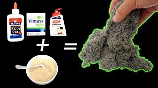 DIY Kinetic Sand without Sand Beach At Home I REAL!!!!! NO CUT CLIP