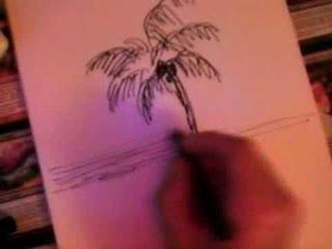 Dessin d 39 un palmier en live youtube - Dessin palmier ...